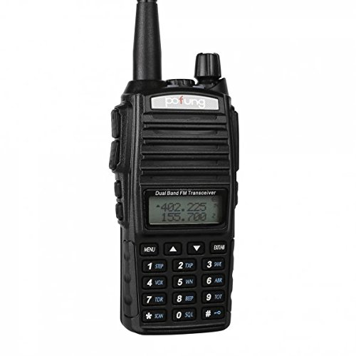 BaoFeng Pofung UV-82 Dual Band Two-Way Radio 136-174MHz VHF & 400-520MHz UHF (Black) by BaoFeng
