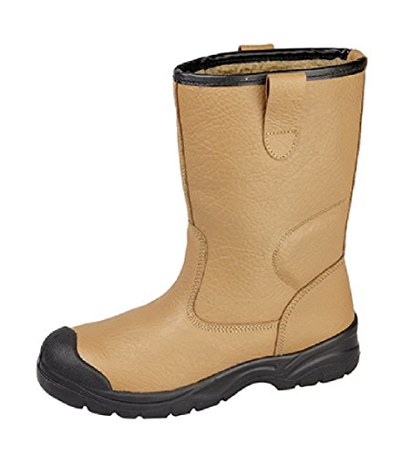 Grafters Scuff Toe Cap Fur Lined Rigger Boot Brown nvqWpZP9l