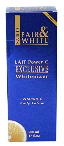 """Fair & White Exclusive Whitenizer Body Lotion with Pure Vitamin""""C"""" and 1.9% Hydroquinone, 500ml / 17fl.oz"""