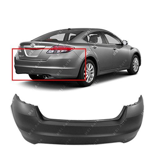 MBI AUTO Primered, Rear Bumper Cover for 2009-2013 Mazda 6 2.5L 09-13, MA1100195