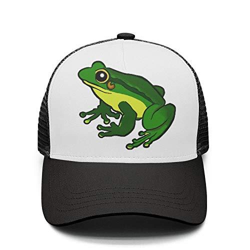 Unisex Adjustable Meshback Sandwich Hats Toad Frog Snapback Trucker Caps