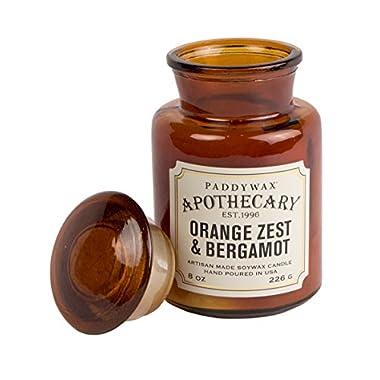 Paddywax Apothecary Collection Jar Candle, Orange Zest/Bergamot, 8 oz