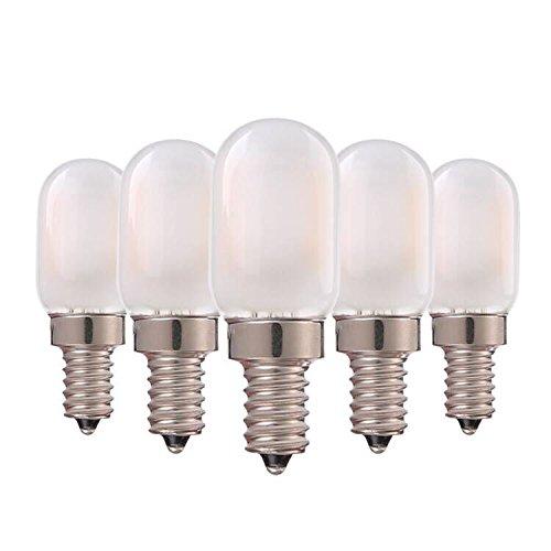 Genixgreen Bombilla de candelabro de filamentos LED 1W T22 E14 Lámpara de candelabro de base Bombilla de noche tubular vintage Blanco cálido 2700K, ...