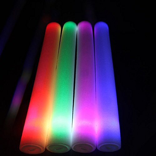 Wenini LED Foam Sticks Toy - Light Up Foam Sticks Glow Party LED Flashings Vocal Concert Reuseable Hot (White) by Wenini (Image #3)