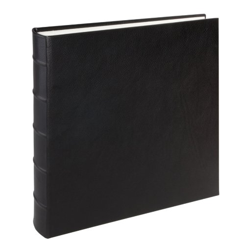 Large Genuine Italian Leather Bound Album,100 Pages, Photo Squares Included, 13-1/8'' x 13'', Black by Graphic Image