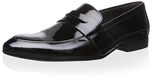 En. Testoni Mens Förkläde Tå Klänning Öre Loafer Nero