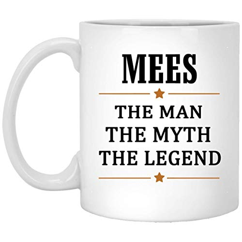 Mees Tea Cup Large The Man The Myth The Legend Coffee Mug - Anniversary Birthday Christmas Gifts For Mees Gag Gift Ceramic Mugs Cup White 11 Oz