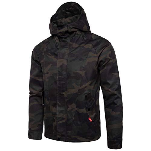Casual Sweatshirt Outwear Howme Coat Zips 1 Men with Hoodie Camo Pocket Front SxxHUzf