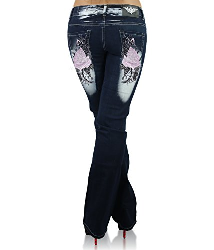 18 Age Size Pink Big 42 041 20 22 14 50 46 Jeans Plus 44 Crazy CB Trousers Tattoo Size 48 Navy 16 Womens Ladies EU UK blue Oz8YTq