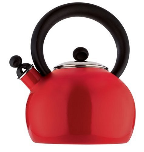Copco 2503-1334 Bella Enamel-on-Steel Tea Kettle, 2-Quart, R