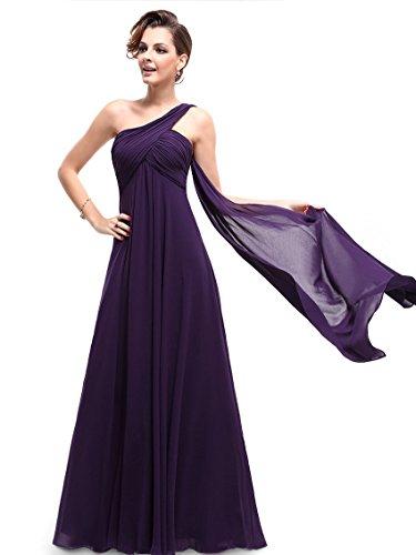 Ever Pretty Womens Elegant One Shoulder Trailing Evening Dress 14 US Purple