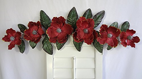 V-Max Floral Decor 37'' Burgundy Magnolia Swag by V-Max Floral Decor
