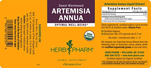 Herb Pharm Certified Organic Artemisia Annua (Sweet Annie) Liquid Extract - 4 Ounce by Herb Pharm (Image #1)