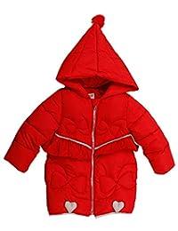 Capturelove Little Girls Down Jacket Hooded Zipper Up Winter Warm Coat