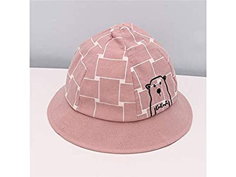 b05bdd2b621 Amazon.com  Infant Cap Kids Bear Embroidery Pointed Hat Baby Sun Protection  Hat Sun Visor for 6-24 Months(Pink) Baby Gift (Color   Grey