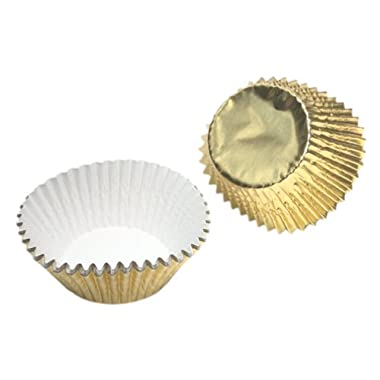 Wilton Gold Foil Standard Baking Cups, Package of 24