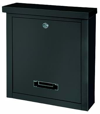 Rottner Brighton 4508 - Buzón con tapa en la ranura superior, color negro