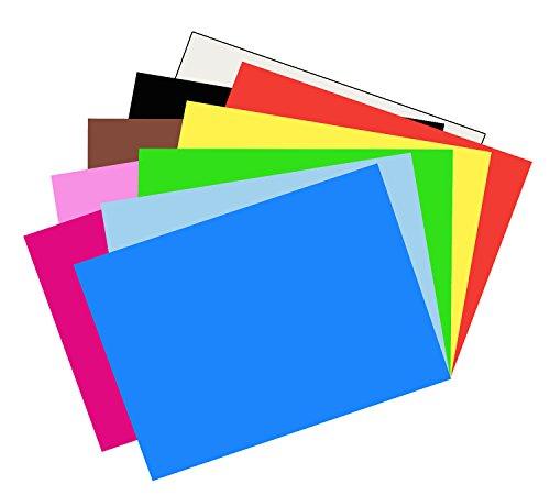 Riverside 3D Construction Paper, 10 Assorted Colors, 24