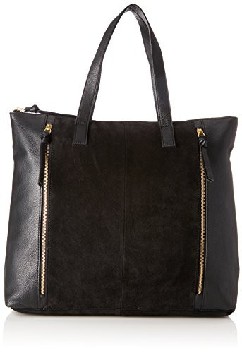 Shoulder Black black Woman bxht Shopper Pieces Cm Shoppers 15x44x40 Bags Pcileana And Suede fwnXRqxz84