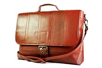 Bag For Unisex,Brown & Gold - Satchels Bags