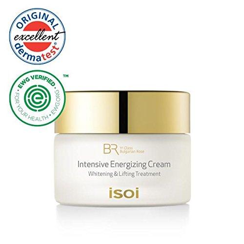isoi Bulgarian Rose Intensive Energizing Cream - for Dry & Sensitive skin, Ultra Moisturizing, Anti-Aging, Lifting, Firming, Brightening Cream (20ml) EWG Verifed, Natural Moisturizer, Skin Deep