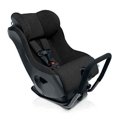 Clek Fllo Convertible Baby and Toddler Car Seat Rear and Forward Facing with Anti Rebound Bar, Slate 2018
