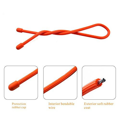Fanme Rubber Gear Twist Ties Cable Cord Keeper Tech Gadgets Electronics Organizer Reusable Backpack Management for Household Office Travel Outdoors (25 PCS)