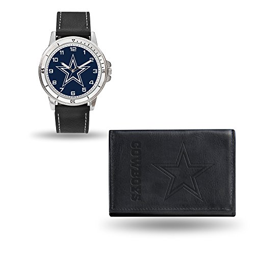 (Rico NFL Men's Watch and Wallet Set WTWAWA1805, Dallas Cowboys)