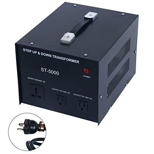 YaeCCC 5000 Watt Voltage Converter Transformer - 110V/220V - Circuit Breaker Protection by YaeCCC (Image #9)