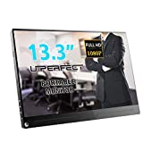 UPERFECT Portable Display 13.3 Inch Computer Monitor 1920×1080 IPS Screen Fit with HDMI Type-C OTG Mini DP Built-in Speaker Gaming Monitor for Raspberry Pi PS3 PS4 Xbox 360 Laptop Cellphone PC MAC WIN