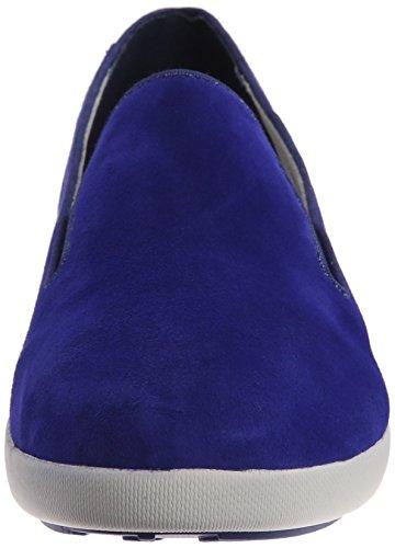 Fitflop Donna F Pop Sneaker Skate In Pelle Scamosciata Blu Mazarin