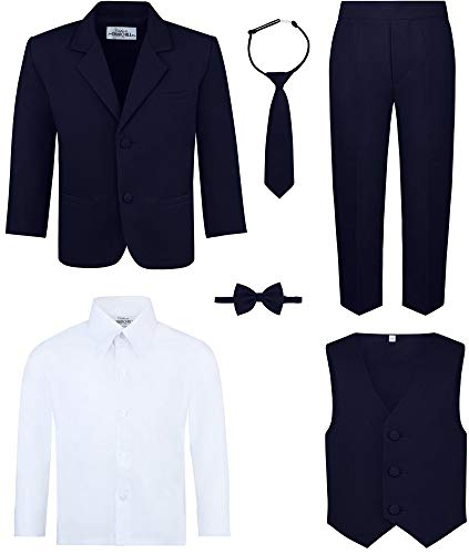 Boy's 6-Piece Suit Set- Navy, 10]()