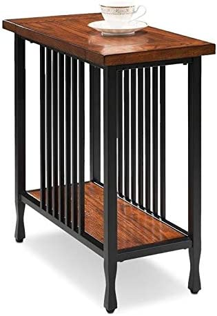 BOWERY HILL Narrow End Table in Burnished Oak