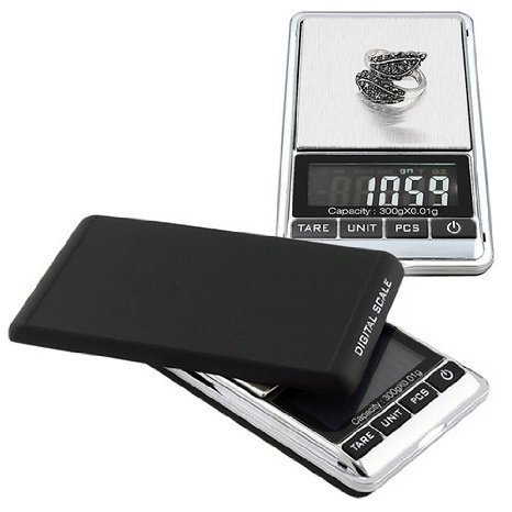 Mini Digital Jewelry Scale,High Precision Pocket Grams Weigh reloading Scale 300g/0.01g with LCD Blacklight for General Laboratory, Commercial, and Educational use (Digital Pocket 300)