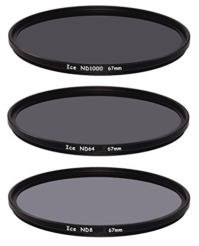 ICE 67mm Slim ND Filter Set ND1000 ND64 ND8 Neutral Density 67 10, 6, 3 Stop Optical Glass