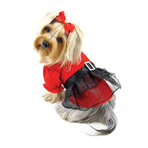 Klippo Dog/Puppy Sundress/Party/Christmas/Holiday/Valentine's Day/Festive/Fancy/Formal Puffy Sleeves Dress - SMALL