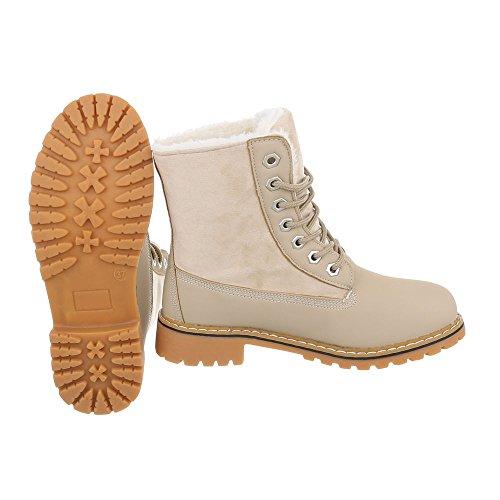 Ital-Design Women's Classic Boot Beige igMC3iwiSd