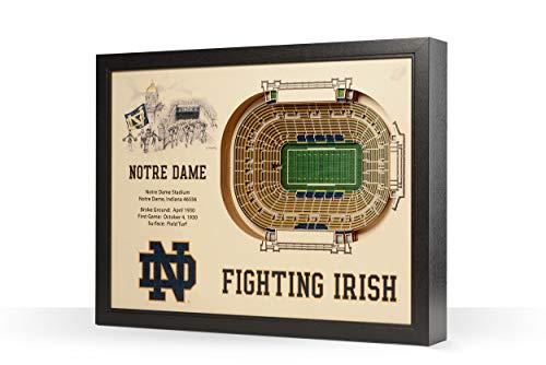 YouTheFan NCAA Notre Dame 25-Layer StadiumView 3D Wall Art