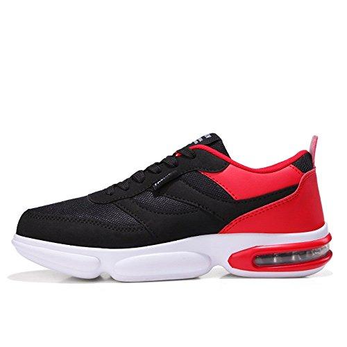 de para Transpirables atléticas Deporte Zapatillas de Ligeras Rojo Moda Running de Zapatillas Zapatillas Casual Hombre qxEf7vTE