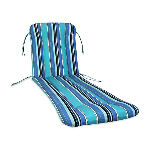 21-23W x 74L x 3H Hinge at 27; Sunbrella Outdoor WROUGHT IRON CHAISE CUSHION in Canvas by Comfort - Outdoor 23w Cushion