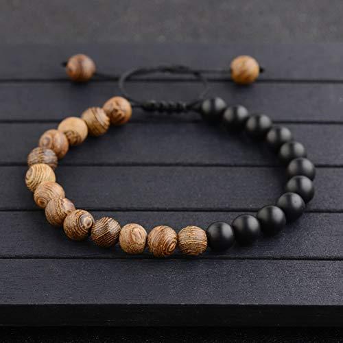 - Mikash 7 Chakra Healing Lion Buddha Helmet Beads Wooden Adjustable Men Women Bracelets | Model BRCLT - 37914 |