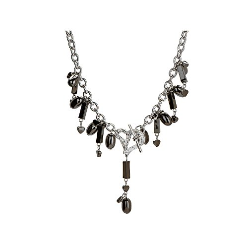 Kole Imports Michele Caruso Black Metallic Bead and Heart Necklace