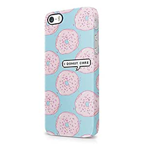 I Donut Care Pixel Bubble Donuts Pattern Tumblr Print Hard Plastic iPhone 5 / iPhone 5S Phone Case Cover