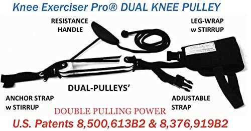 Knee Exerciser Pro Dual Knee Pulley: Knee Replacement Therapy , TKA, ACL & Knee Contracture Rehab
