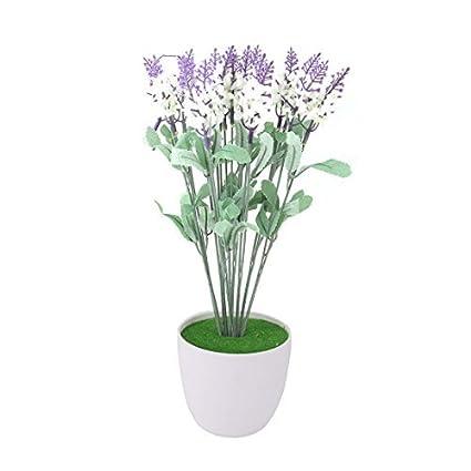 eDealMax plástico Inicio arte de DIY decorativo simulación Artificial de Lavanda púrpura de la Flor
