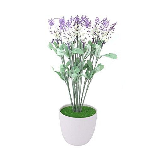 eDealMax plástico Inicio arte de DIY decorativo simulación 人工 de Lavanda púrpura de la Flor B07GKZX2TY