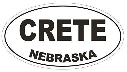 Amazon Com Crete Nebraska Oval Vinyl Bumper Sticker Decal