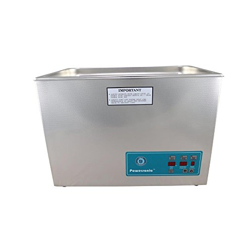 Crest Ultrasonics 1800PD045-1 Model P1800 Table Top Cleaner with Power Control, Digital Timer/Heat, 5.25 Gallon Volume, 45 kHz/115V