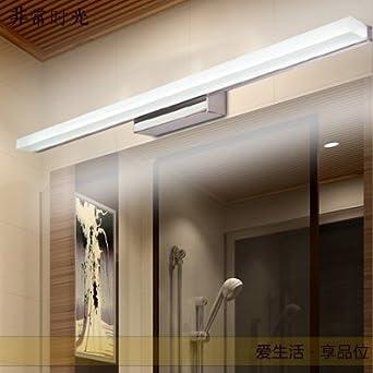 TYDXSD Espejo luces led baño a prueba de humedad aislante acero inoxidable moderno minimalista espejo anti-vaho apliques 100 * 45 * 20 mm , white: ...