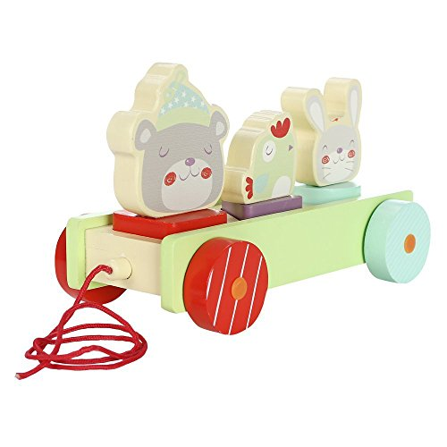 Hessie Wooden Pull Along Toy, Adorable Animals Creative Educational Toy for  Unisex of 1- c7f516715b